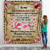 To My Granddaughter Letter Blanket, Best Memories Gifts-Moon & Back