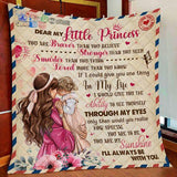 To My Little Princess Letter Pattern Blanket-Moon & Back