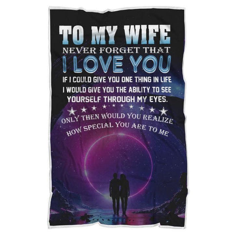 To My Wife Anniversary/Birthday Blanket - Anniversary Valentine's Day Romantic Gift-Moon & Back