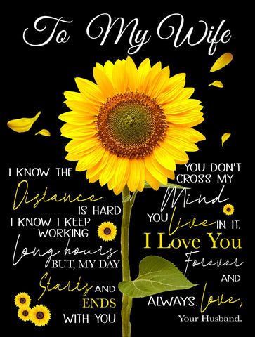 To My Wife Anniversary/Birthday Custom Sunflower, Valentine's Day- DG5343-Moon & Back