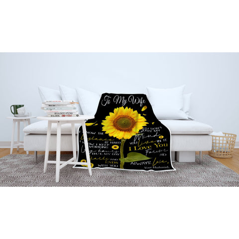 To My Wife I Love You Forever Blanket-Moon & Back-Youth 60in x 36in (152cm x 91cm)-Moon & Back
