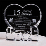 Wedding Anniversary Crysta Gift for your LOVE-Moon & Back-1 year-Moon & Back