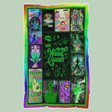 Weed Queen Quilt Blanket,Blanket Gift For Hippie Girls,Blanket Gift For Weed Lovers-RH2736-Moon & Back
