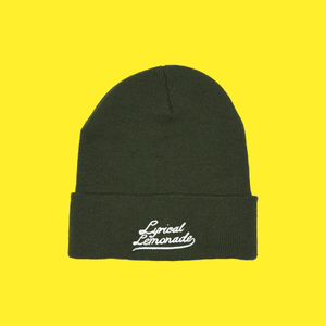 The Varsity Beanie in Olive