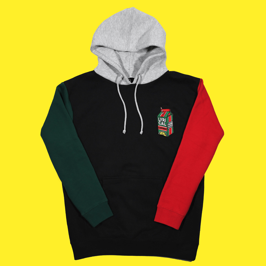 The Colorblock Hoodie (Forest/Varsity Red)