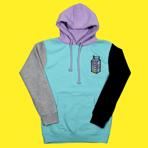 The Colorblock Hoodie (Mint/Grape)