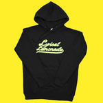 The Chenille Hoodie (Black/Volt)