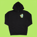 Aliens Are Real Carton Patch Hoodie (Black)