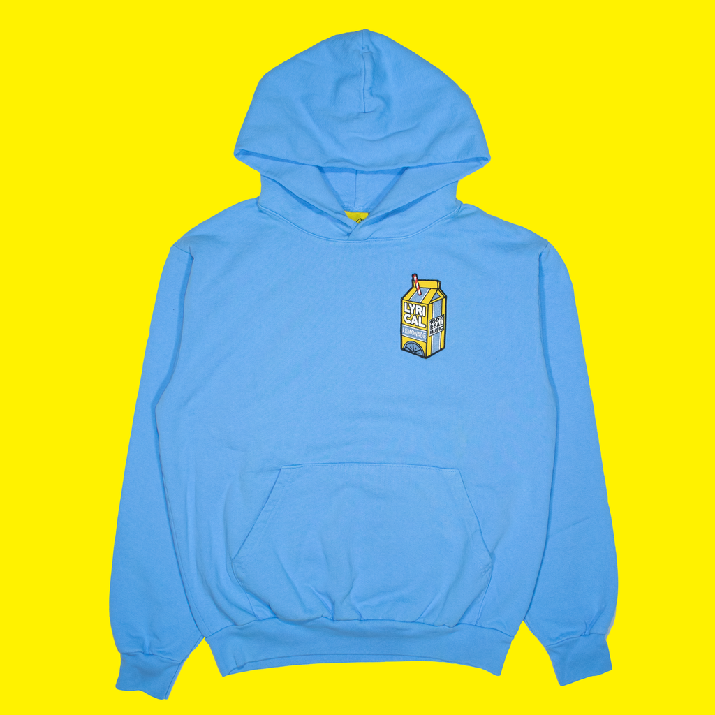 Carton Patch Hoodie in Blue