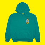 Carton Patch Hoodie in Green