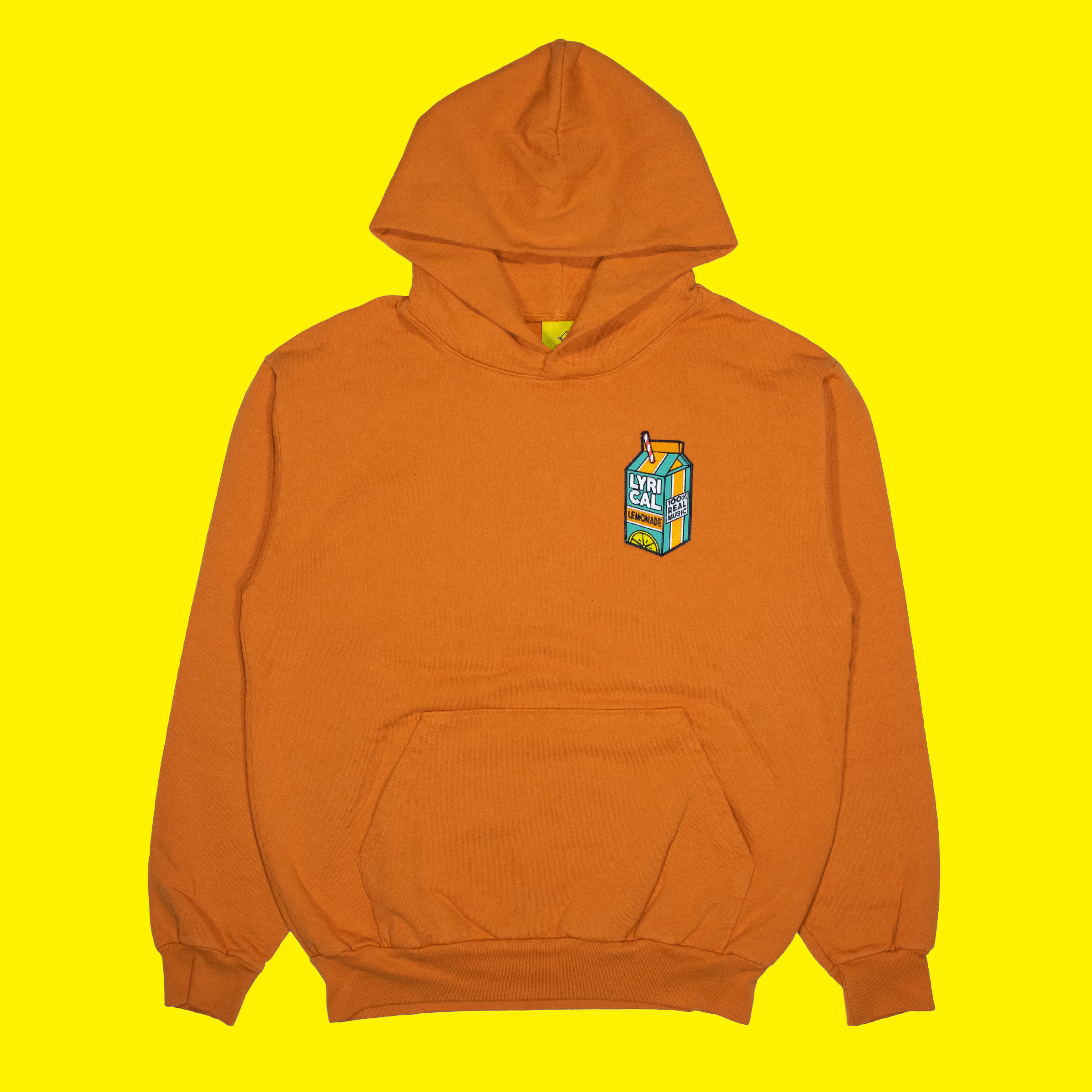 Carton Patch Hoodie in Orange