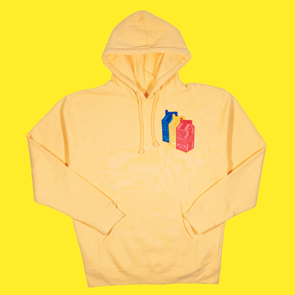 The Triple Patch Carton Hoodie in Peach