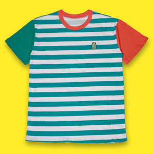 The Striped Tee Teal