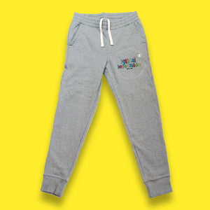 Embroidered Sweats in Grey