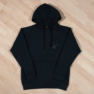 The Monochrome Carton Patch Hoodie in Black