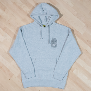 The Monochrome Carton Patch Hoodie in Ash Grey