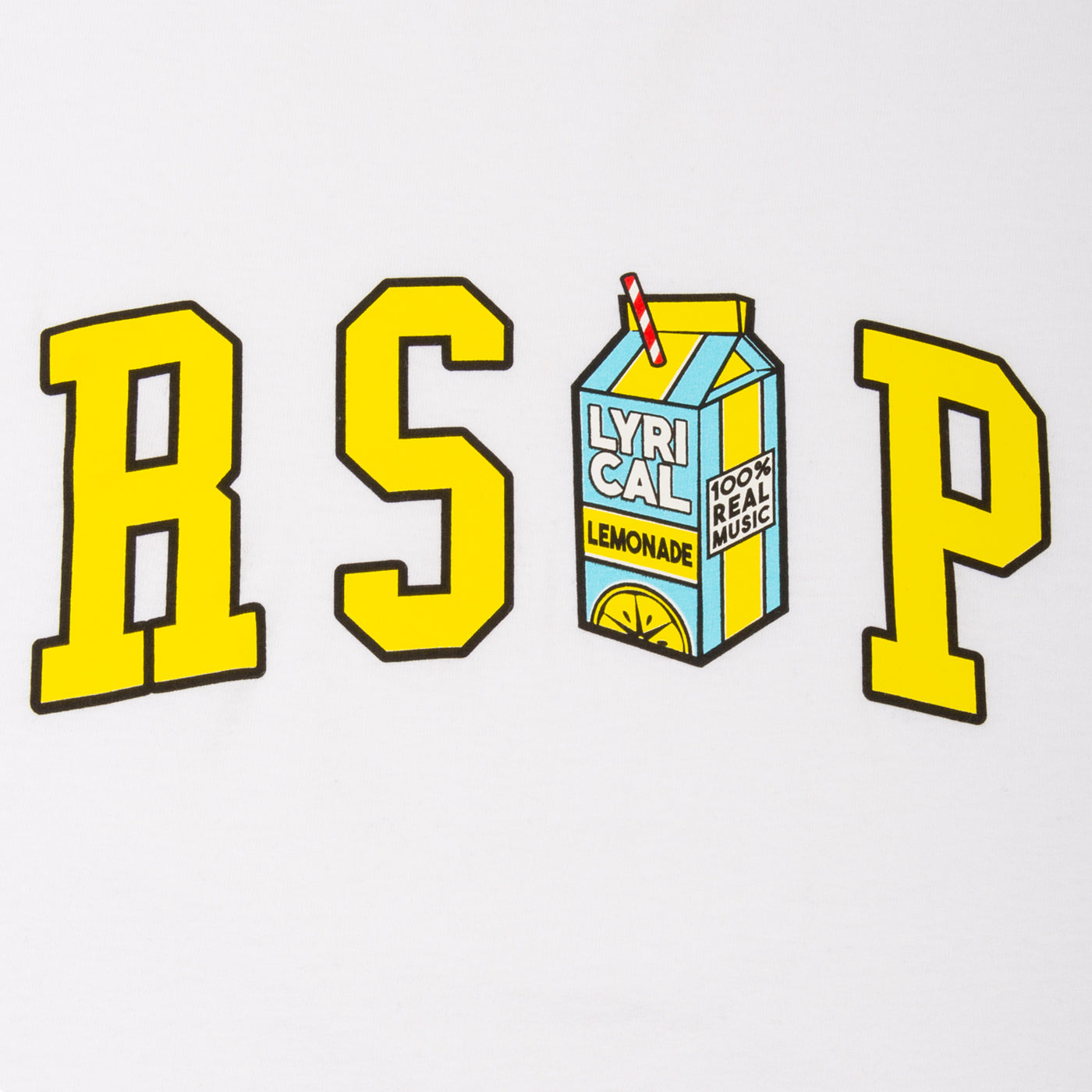 The LL x RSVP Tee in White-Yellow