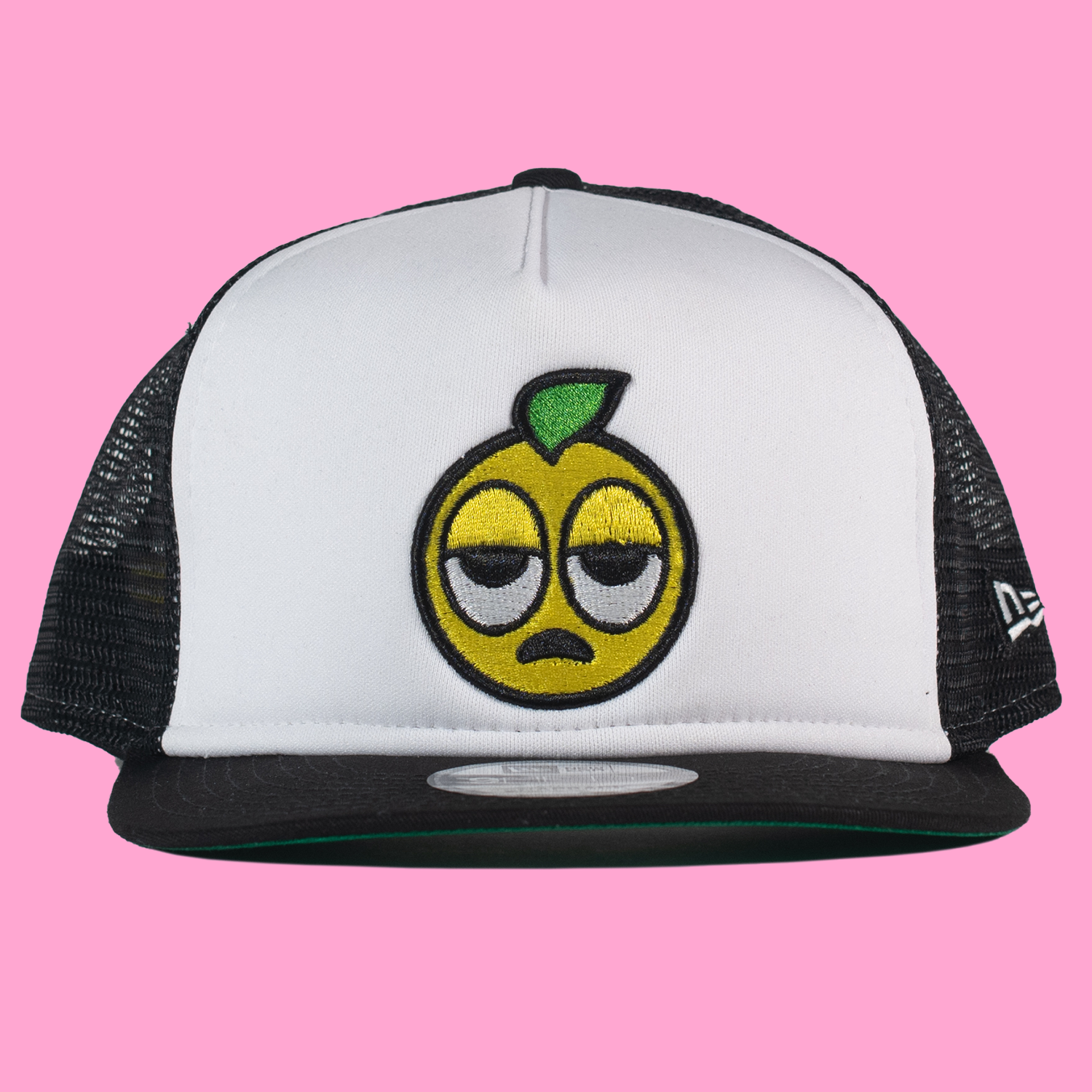 The Lemon Man New Era Trucker Hat in Black