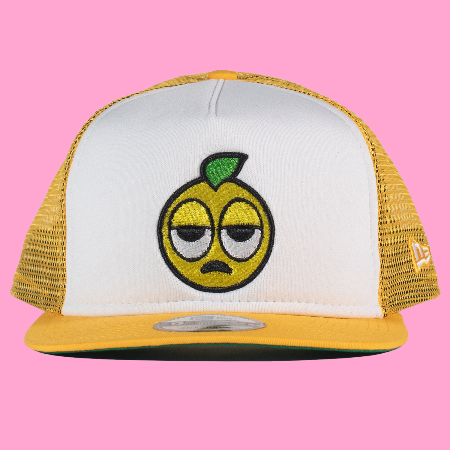 The Lemon Man New Era Trucker Hat in Yellow