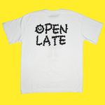 The Open Late Tee in White