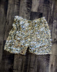 Designer Mixed Gold Sequin Glitter Shorts