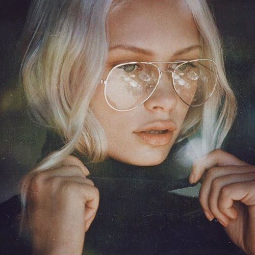 Fashionable Gold Aviator Style Clear Glasses