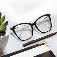 Vintage Style Black Tortoise Metal Side Glasses