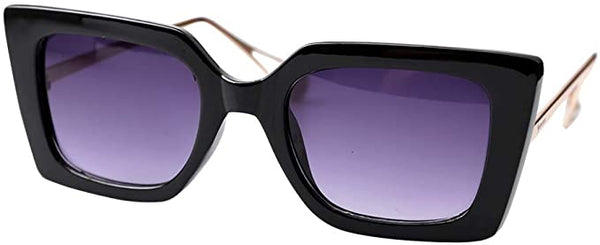 Pointy Square Black Tinted Square Reader Style Glasses
