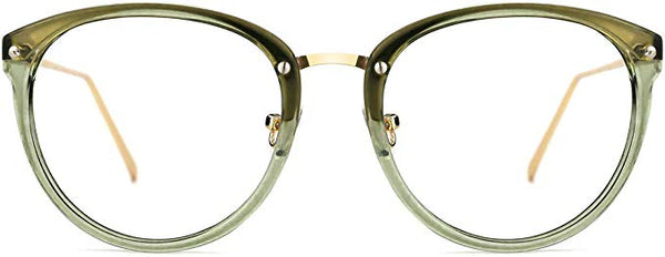 Light Green Ombre Cat Eye Clear Lens Eyeglasses