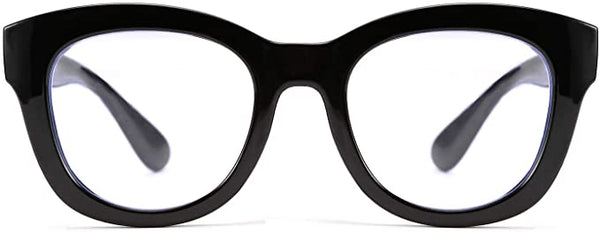 Clara Black Oversized Square Clear Reader Style Eyewear