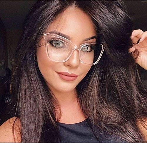 Antonia Clear Cat Eye Metal Lens Eyeglasses