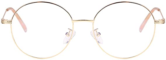 Classic Round Gold Clear Metal Reader Style Glasses