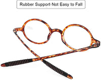 Classic Round Tortoise Lightweight Clear Reader Style Glasses