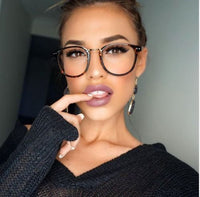 Oversized Tortoise Square Glasses