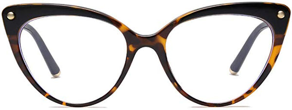 Jessie Brown Tortoise Cat Eye Clear Lens Eyeglasses