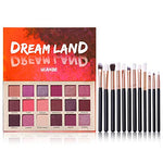 Pro 18 Shimmer & Matte Eyeshadow Palette w/Brushes Set
