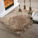 Soft Faux Sheepskin Fur Chair Couch Cover Mocha Rectangle Area Rug -2 x 3 Feet
