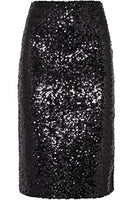 Trendy Black Sequin Pencil Skirt