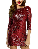 White Sparkling Deep Sequin V Back Mini Dress