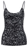 Sequined Black Sleeveless Style Sparkle Top