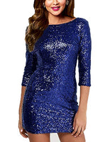 Gold Sparkling Deep Sequin V Back Mini Dress