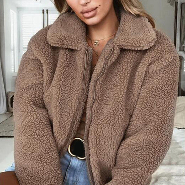 Fashionable Mocha Bomber Jacket