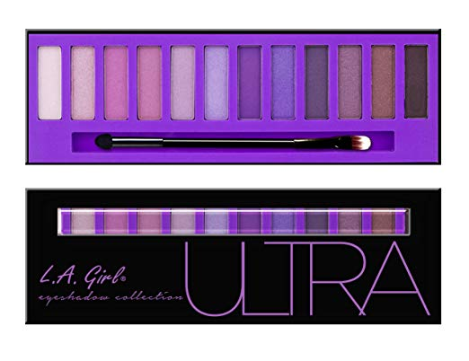 L.A. Girl Beauty Brick Eyeshadow, Purples, 0.42 Ounce
