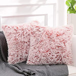 Luxury Soft Faux Fur Shaggy Pink Cushion Cover Pillowcase/ Pillows Covers