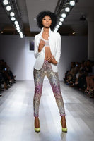 Sequined Pink Silver Gold Fading Sequin Pants