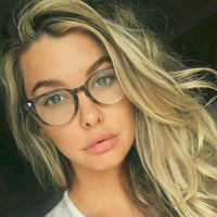 Vintage Style Clear Tortoise Ombre Glasses