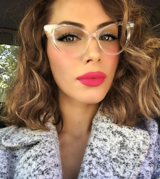 Retro Sexy Women Cat Eye Clear Glasses