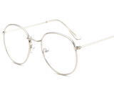 Retro Gold Clear Vintage Style Round Glasses