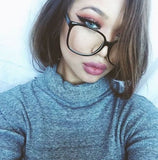 Oversized Sexy Vintage Lenses Black Eyeglasses