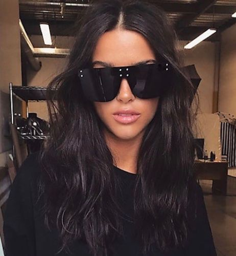 Black Flat Top Oversized Floressa Sunglasses